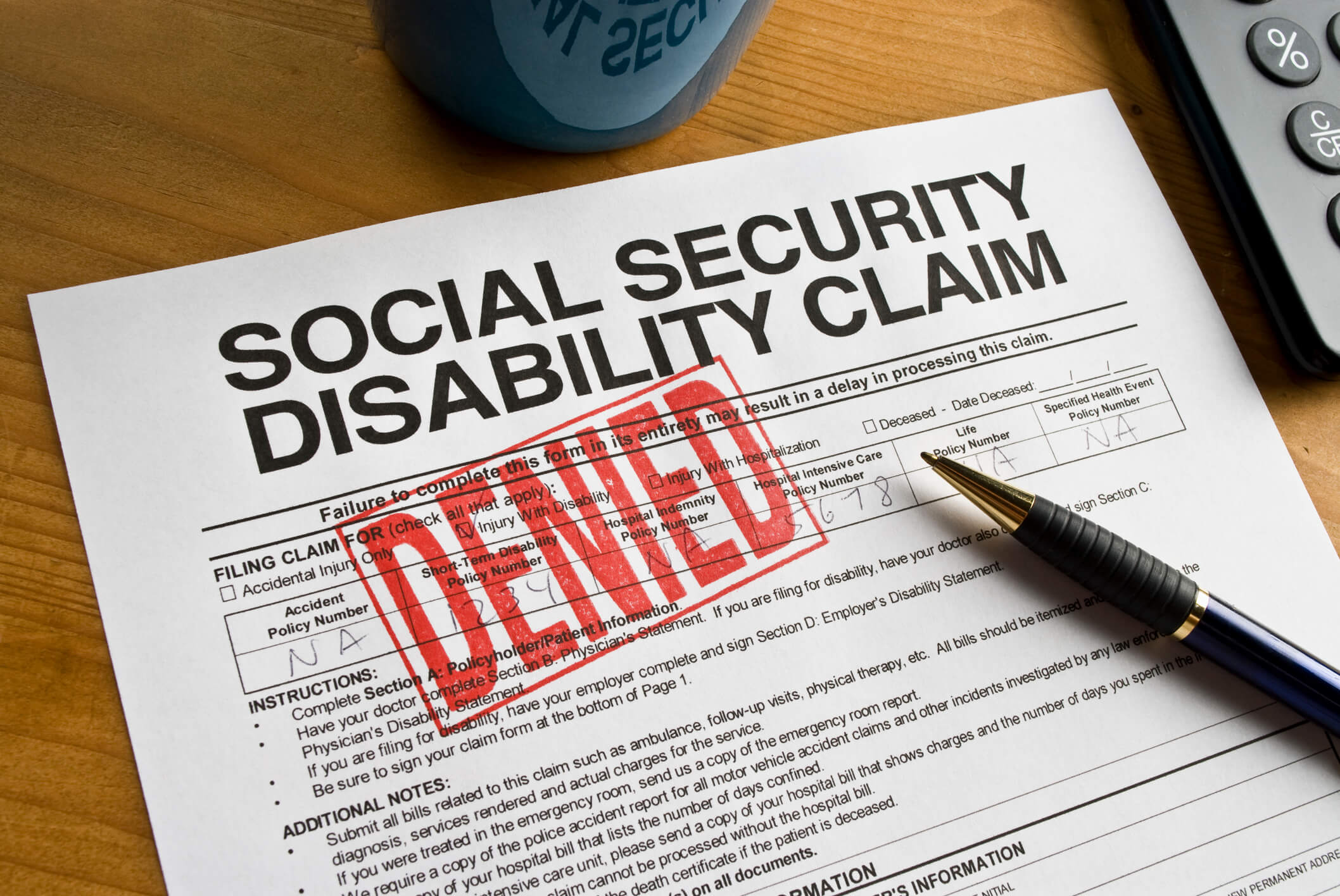 Denied claim of social security disability claim.