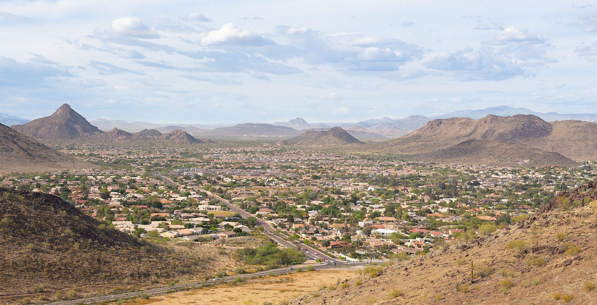 Far-off view of Glendale, Arizona