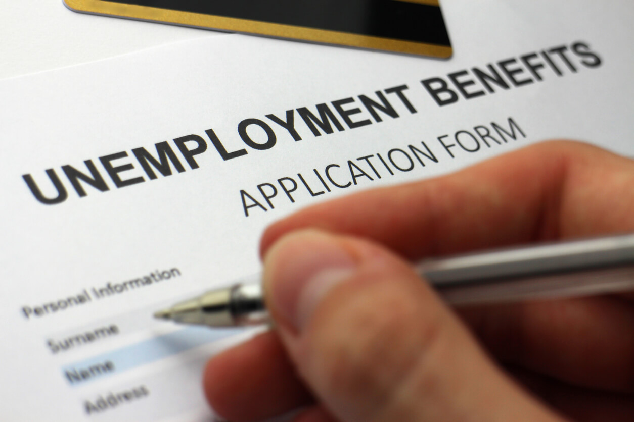 Man filing for unemployment benefits while on SSD.