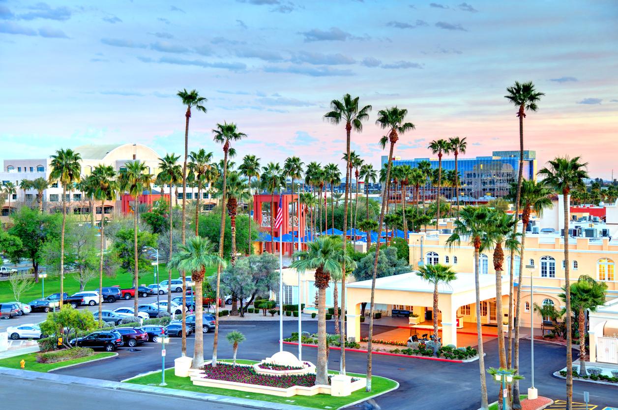 Overhead shot of Chandler, Arizona in Maricopa County